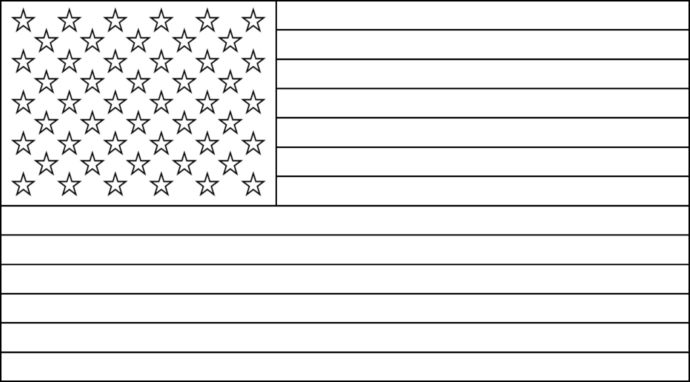 This is an image of United States Flag Printable throughout full page
