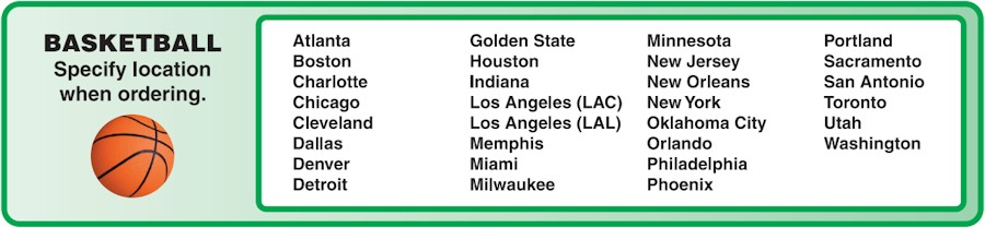 Image of our 2020-2021 NBA Team Schedule