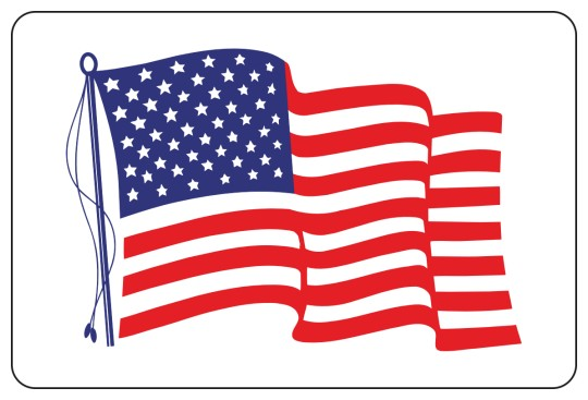 Image of American Flag Stickers by deSIGNery