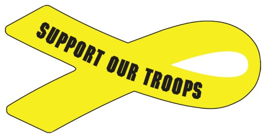 Image of Support our Troops stickers by deSIGNery