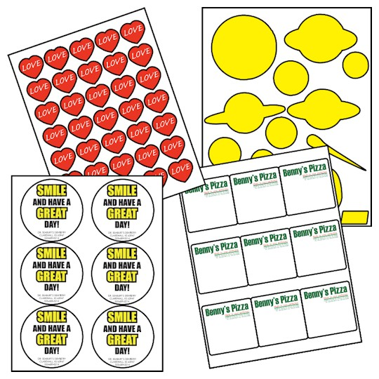 Image of Laser Label Sheets by deSIGNery