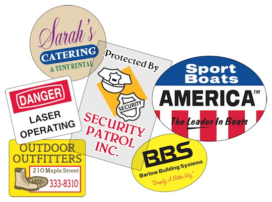 Image of Outdoor Vinyl Roll Stickers & labels by deSIGNery
