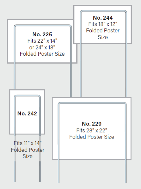 Image of Fold-Over Poster Wire Frames by deSIGNery