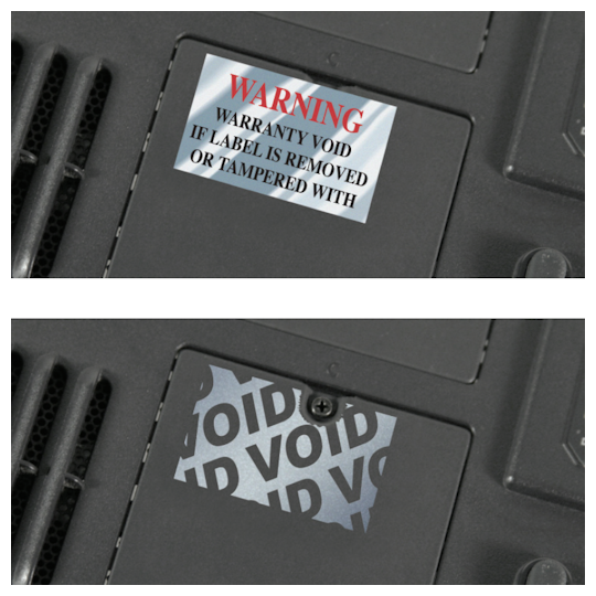 Image of Voidable Chrome Labels & Decals by deSIGNery